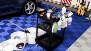matériel de lavage auto en interieur 78